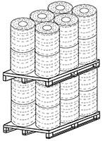 Bancali di bobine di corde di carta rivestite in cotone (12+12) - SEMAC