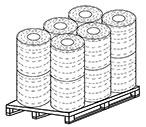 Bancali di bobine di corde di carta rivestite in cotone (12) - SEMAC
